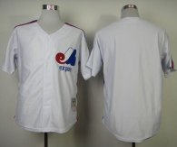 Mitchell And Ness Expos Blank White Throwback Stitched MLB Jersey