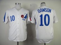 Mitchell And Ness 1982 Expos -10 Andre Dawson White Throwback Stitched MLB Jersey