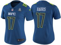 WOMEN'S NFC 2017 PRO BOWL NEW YORK GIANTS #17 DWAYNE HARRIS BLUE GAME JERSEY