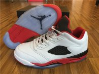 "Perfect Air Jordan 5 Low ""Fire Red"" (3M Reflective)"