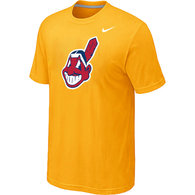 MLB Cleveland Indians Heathered Nike Yellow Blended T-Shirt