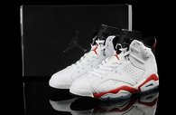 Super Max Perfect Jordan 6 White 6 White Varsity Red