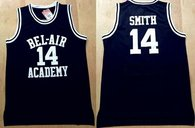 Bel-Air Academy -14 Smith Black Stitched Basketball Jersey