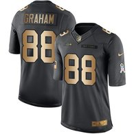 Nike Seahawks -88 Jimmy Graham Black Stitched NFL Limited Gold Salute To Service Jersey