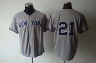 New York Yankees -21 Paul O'Neill Grey Stitched MLB Jersey