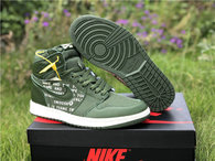 "Authentic Air Jordan 1 High OG ""Nike Air""  Olive Canvas"