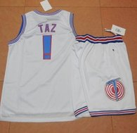 Space Jam Tune Squad -1 Taz White Stitched Basketball Jersey