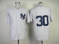 New York Yankees -30 David Robertson White Stitched MLB Jersey
