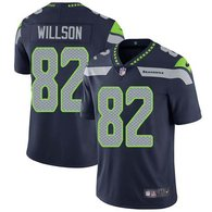 Nike Seahawks -82 Luke Willson Steel Blue Team Color Stitched NFL Vapor Untouchable Limited Jersey