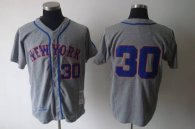 Mitchell and Ness 1969 New York Mets -30 Nolan Ryan Grey Stitched MLB Jersey