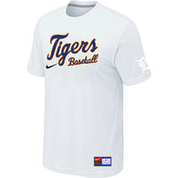 Detroit Tigers White Nike Short Sleeve Practice T-Shirt