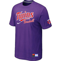 Minnesota Twins Purple Nike Short Sleeve Practice T-Shirt
