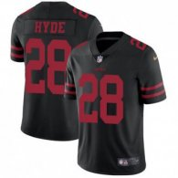 Nike 49ers -28 Carlos Hyde Black Alternate Stitched NFL Vapor Untouchable Limited Jersey