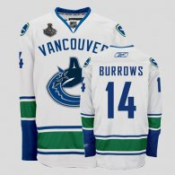 Vancouver Canucks 2011 Stanley Cup Finals -14 Alexandre Burrows White Stitched NHL Jersey