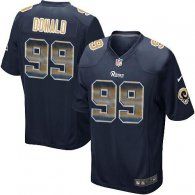 Nike Rams -99 Aaron Donald Navy Blue Team Color Stitched NFL Limited Strobe Jersey