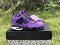 Authentic Travis Scott x Air Jordan 4 Purple