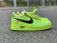"Authentic OFF-WHITE x Nike Air Force 1 ""Volt"" (women)"
