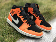 "Authentic Air Jordan 1 Mid ""Orange/Black"""