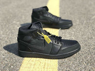 Authentic Air Jordan 1 All Black