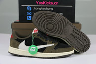"Authentic Travis Scott x Air Jordan 1 Low OG SP ""Dark Mocha"""