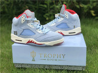 Authentic Trophy Room x Air Jordan 5 JSP Ice Blue