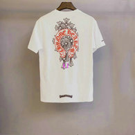Chrome Hearts short round collar T-shirt M-XXL (39)