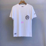 Chrome Hearts short round collar T-shirt M-XXL (44)
