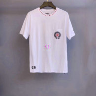 Chrome Hearts short round collar T-shirt M-XXL (40)