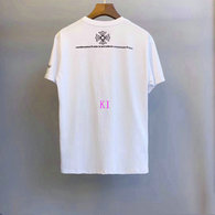 Chrome Hearts short round collar T-shirt M-XXL (43)