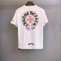 Chrome Hearts short round collar T-shirt M-XXL (41)