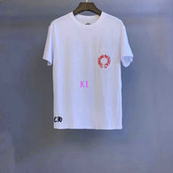Chrome Hearts short round collar T-shirt M-XXL (38)