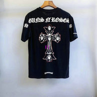 Chrome Hearts short round collar T-shirt M-XXL (25)
