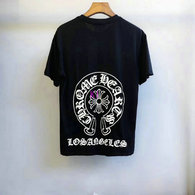 Chrome Hearts short round collar T-shirt M-XXL (50)