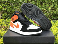 "Authentic Air Jordan 1 Mid ""Shattered Backboard"""