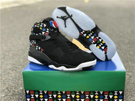Authentic Air Jordan 8 Quai 54 Black