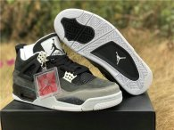 Authentic Air Jordan 4 Retro Black/Cool Grey