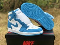 Authentic Air Jordan 1 Retro High OG White/Powder Blue