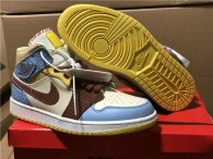 "Authentic Maison Chateau x Air Jordan 1 Mid ""Fearless"" GS"