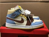 "Authentic Maison Chateau x Air Jordan 1 Mid ""Fearless"""