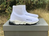 Authentic Balenciaga Speed Trainer White Black
