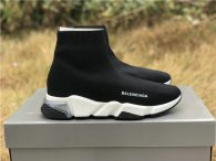 Authentic Balenciaga Speed Trainer Black/White