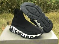 Authentic Balenciaga Speed Trainer Black-White
