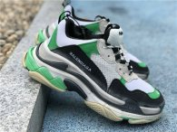 Authentic Balenciaga Triple-S White/Green