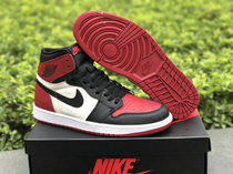 "Authentic Air Jordan 1 Retro High OG ""Bred Toe"""