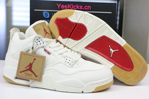 Authentic Levi's x Air Jordan 4 white