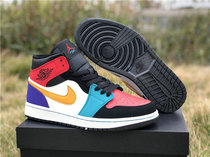 Authentic Air Jordan 1 Mid  Multicolor
