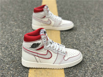 "Authentic Air Jordan 1 Retro High OG ""Sail/University Red"""
