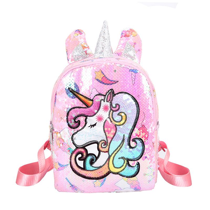 Peppa Pig Fashionable Girls Backpack Plush Small Bag Purple