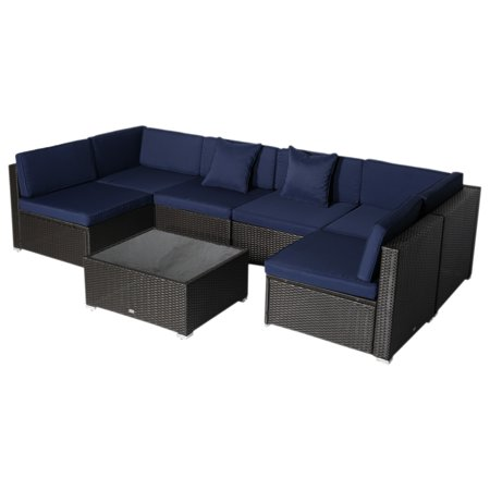 Cool 495 7 Piece Patio Wicker Sofa Set Sectional Rattan Cjindustries Chair Design For Home Cjindustriesco