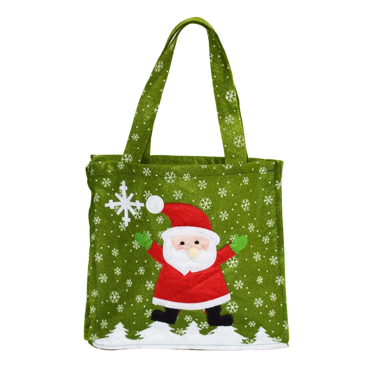 Reusable Handmade Christmas Gift Bag Snowman Pattern Santa Claus Candy Bag  Handbag Home Party Decoration Xmas. Loading zoom 6357ad00af99d